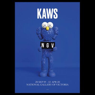 KAWS, 'KAWS x NGV BFF Poster (Blue)', 2019