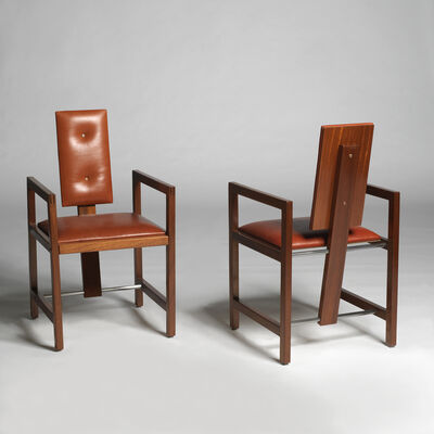 "André Sornay, 'A pair of ""bridge"" armchairs', ca. 1960"