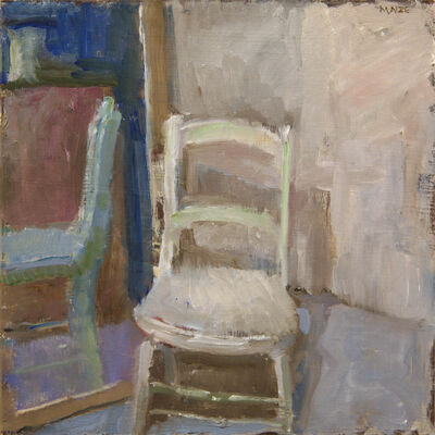 Catherine Maize, 'White Chair and Mirror', ca. 2018