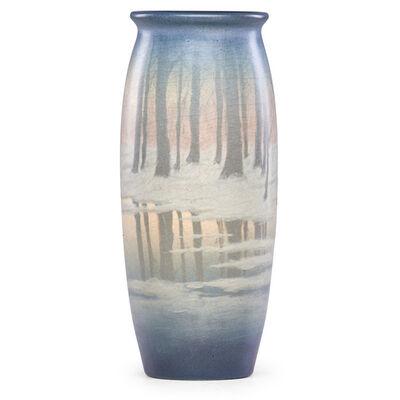 Edward T. Hurley, 'Winter Scenic Vellum vase, Cincinnati, OH', 1911