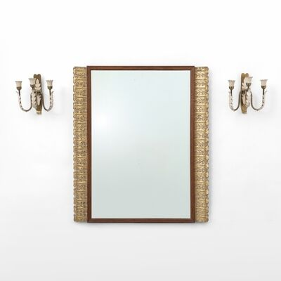 Paolo Buffa, 'A wall mirror and a pair of wall lamps', early 1950's