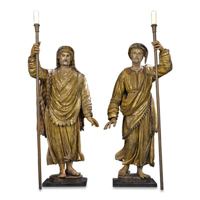 Unknown Artist, '17TH-CENTURY VENETIAN FIGURAL TORCHÈRES', 1600-1630