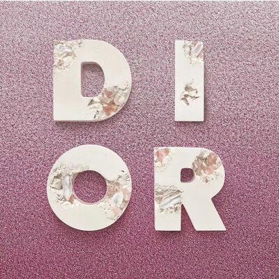 Daniel Arsham, 'D.I.O.R. Eroded Letters', 2020