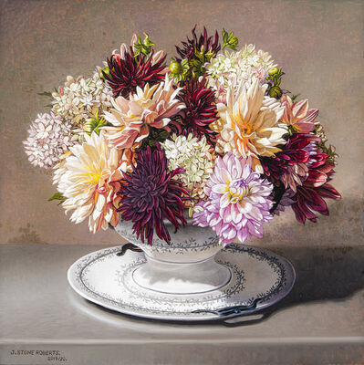 Stone Roberts, 'Dahlias and Hydrangeas in Porcelain Terrine', 2019-2020