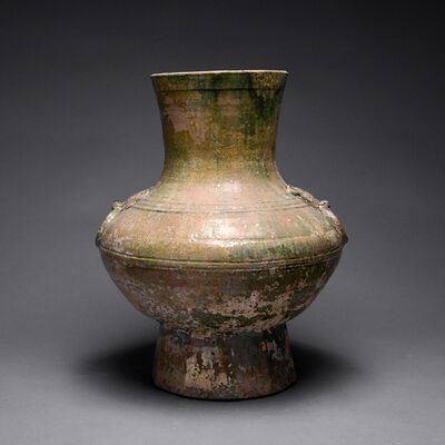 Han Dynasty, 'Han Green-Glazed Hu', 206 B.C. to 220 A.D.