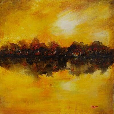 Shyama Nadimpalli, 'Serenity in the Mountains- Reflections', 2019