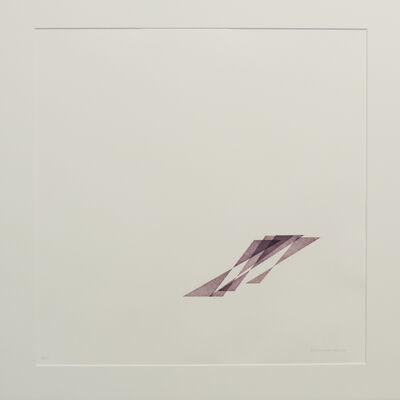 Vera Molnar, ' 4 Triangles et leur ombre', 1985-2008