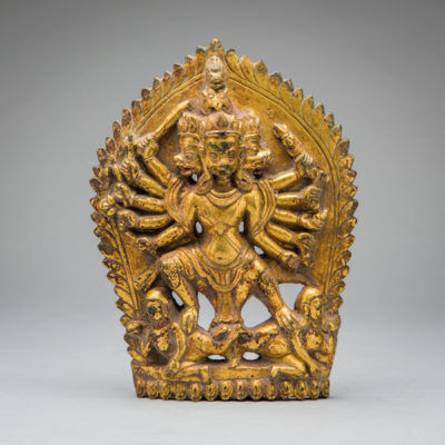 Unknown Asian, 'Gilded bronze high-relief of the goddess Kali', 1800-1900