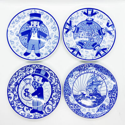 Alec Monopoly, ''Artlife Plate Set'', 2020