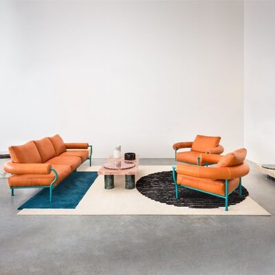 Tomás Alonso, 'the Vaalbeek project - triple & single couches + rug', 2016