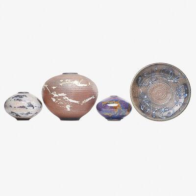 Otto Heino, 'Three vases and one plate, Ojai, CA'