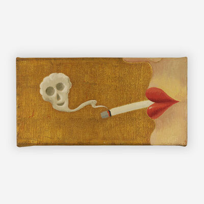 Milan Kunc, 'Lips with smoke', 1993