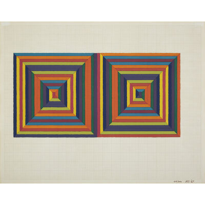 Frank Stella, 'Fortin de las Flores (First Version) from Ten from Leo Castelli', 1967