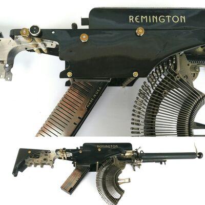 Eric Nado, 'Remington : ; - Typewriter Machine Gun series', 2019