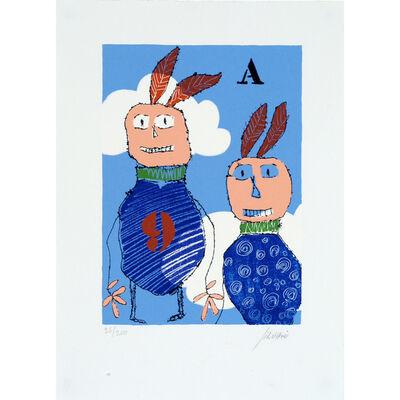 Christian Silvain, 'Deux indiens qui volent ', 1998
