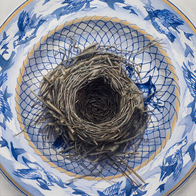 Clive Smith, 'Beak, Claw, Hand, Brush Study (Caught)', 2017