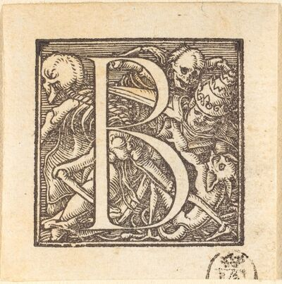 Hans Holbein the Younger, 'Letter B'