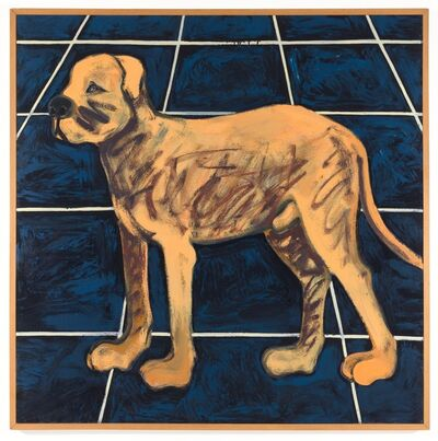 Joan Brown, 'A Dog Walking in a San Francisco Street #2', 1972