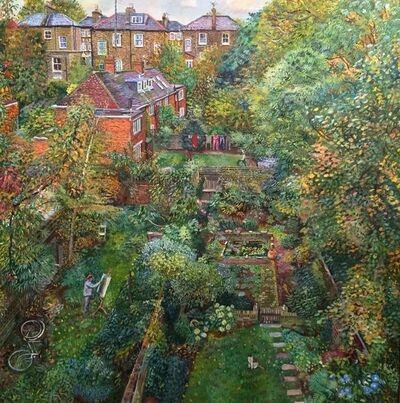 Melissa Scott-Miller, 'View of Back Gardens with Self-Portrait', 2014