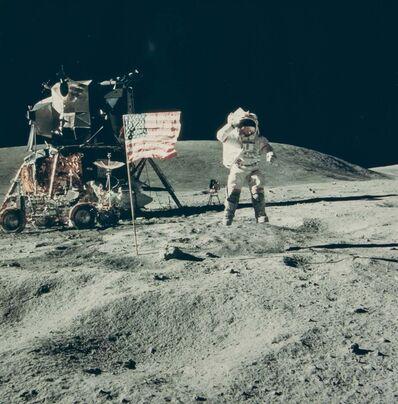 NASA, 'John Young's jumping salute, Apollo 16', 1970