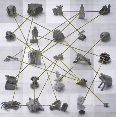 Alejandro Almanza Pereda, 'People living in glass houses shouldn't throw stones (diagram)', 2011