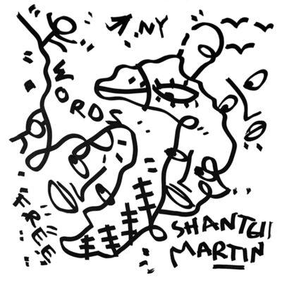 Shantell Martin, 'Words Free, NY, Fader', 2016