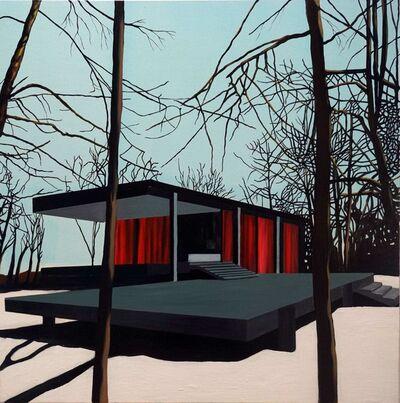 Eamon O'Kane, 'Black Farnsworth House in Snow', 2010