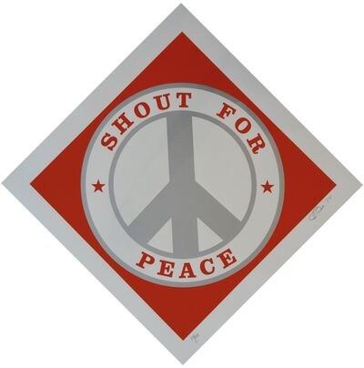 Robert Indiana, 'Shout for Peace (Red / Silver)', 2014