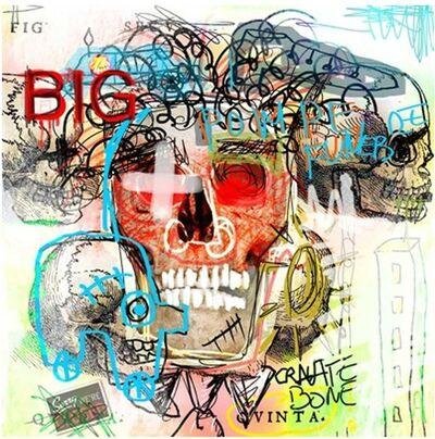 Captain Fluo, 'Hommage à Basquiat', ca. 2009
