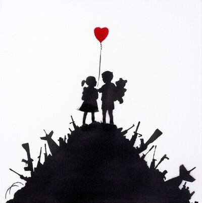 Banksy, 'Kids On Guns (Original Painting)', 2003