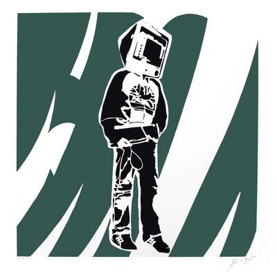 Blek le Rat, 'Computer Man (Green)', 2008