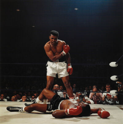 Neil Leifer, 'Muhammad Ali, first round knockout of Sonny Liston, St. Dominic's Arena, Lewiston, Maine', 1965