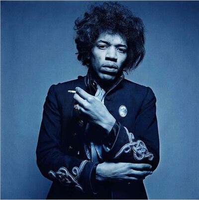 Gered Mankowitz, 'Jimi Hendrix Blue Smoke', 1967