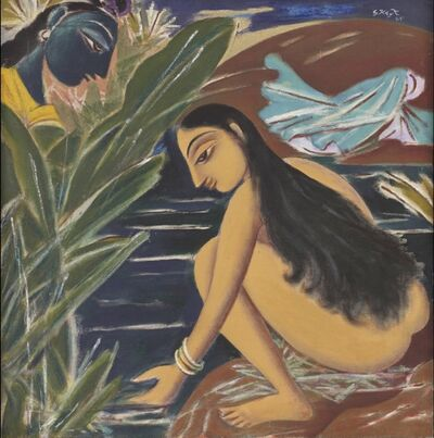 George Keyt, 'Radha & Krishna ', 1965