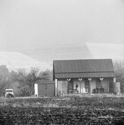David Goldblatt, 'Miner's cottage and slimes dump, New Modder Gold Mine, Benoni', 1965