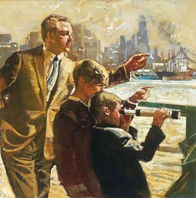 Morton Roberts, 'New York Harbor Scene'
