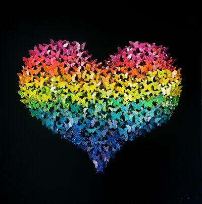 Joel Amit, 'Flying Love - Rainbow Butterflies on. lack', NA