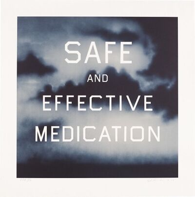 Ed Ruscha, 'Safe and Effective Medication', 2001