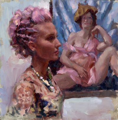 Natalia Fabia, 'Lilac Code (Self portrait currin)', 2018