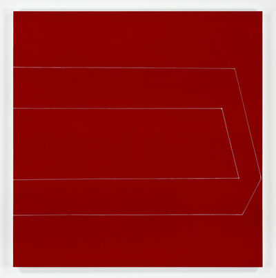 Kate Shepherd, 'half box open eyed straight on red', 2019
