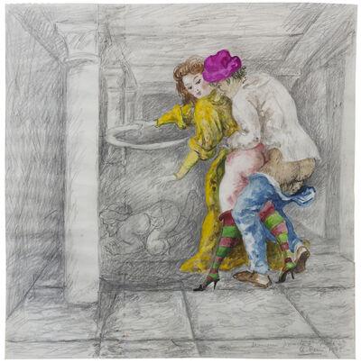 """Antonio Berni, 'Decameron, Jornata 7ª, Noche 2ª. De la serie de Ilustraciones para """"El Decamerón""""', 1975"""