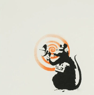 Banksy, 'Radar Rat (SIGNED)', 2004