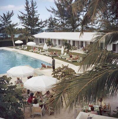 Slim Aarons, 'Poolside Service, Lyford Cay Club, Bahamas', 1962