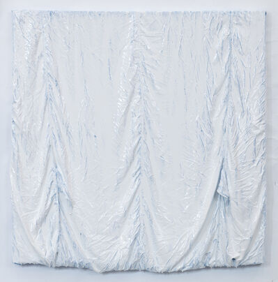 Clemens Wolf, 'Parachute Painting (white)', 2017