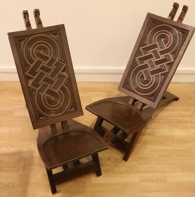 Anonymous, 'Very rare pair of « Africanist » chairs in exotic wood', ca. 1930