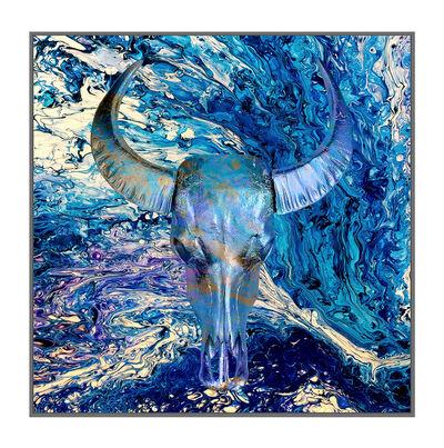 Angela Morris-Winmill, 'Ultra Marine Chinese Water Buffalo Skull', 2019