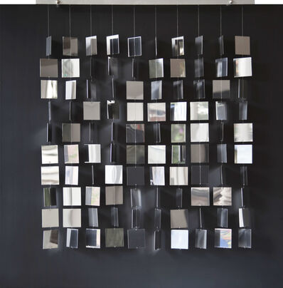 Julio Le Parc, 'Movil cuadrado plateado sobre negro', 1968-2007