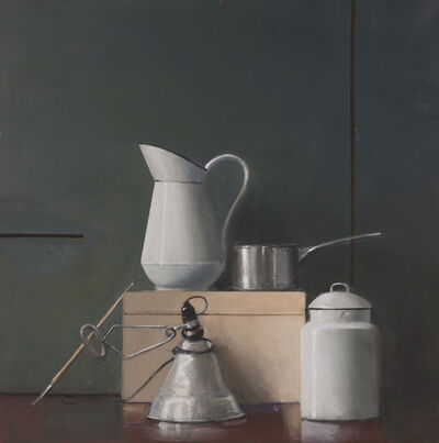 Raymond Han, 'Untitled (Still Life, White Pitcher, Silver Pot, Desk Lamp)', ca. 2002