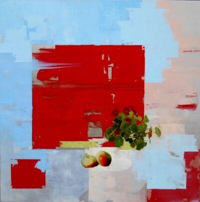 Christina Penrose, 'Nasturtium & Apples w/ red, blue & pink', 2017