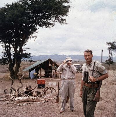 Slim Aarons, 'Hunter Reggie Destro and Arnold Newman, Nairobi, Kenya', 1960